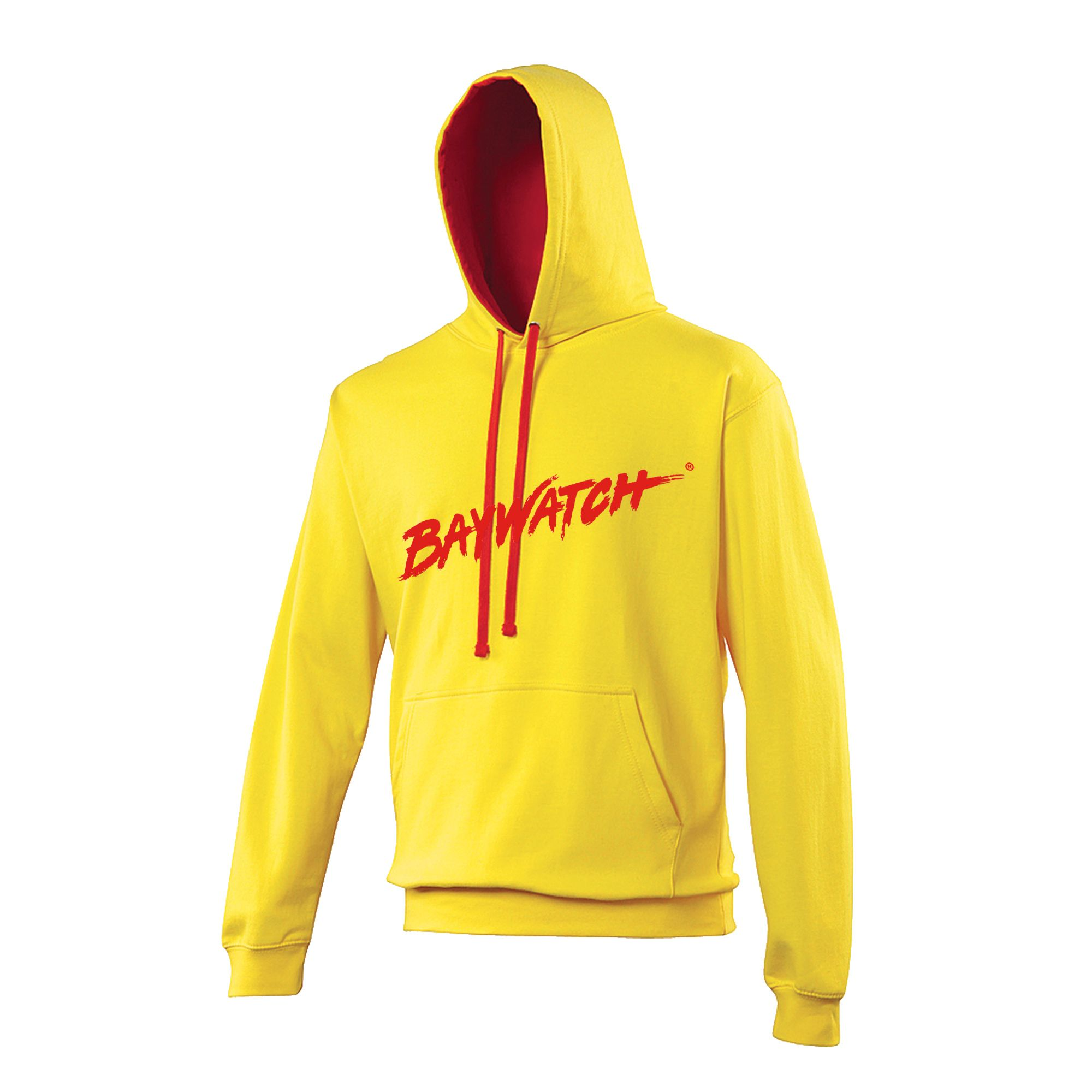Licensed baywatch 174 yellow contrast hoodie