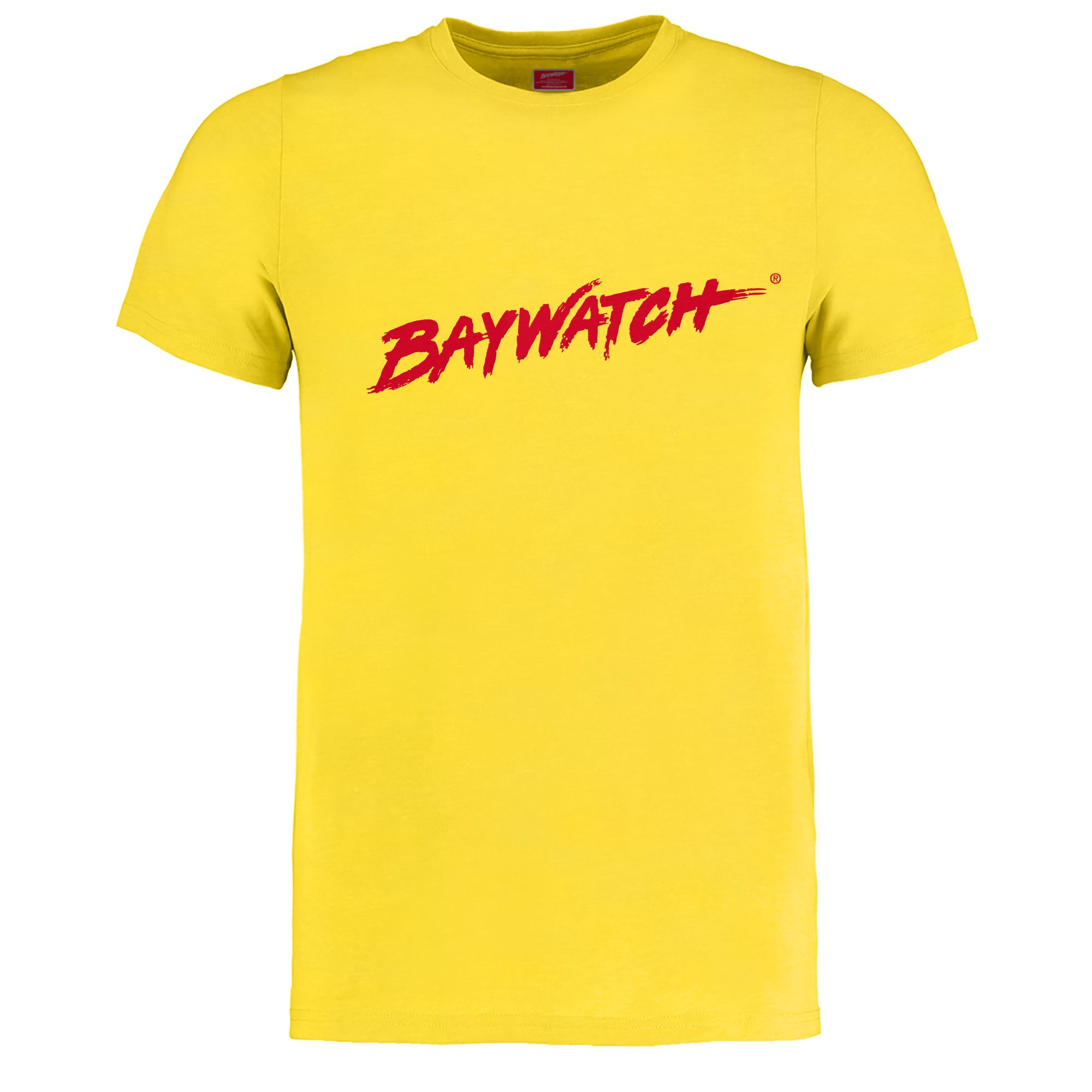 Licensed baywatch yellow t shirt lifeguard gear for Small quantity custom t shirts