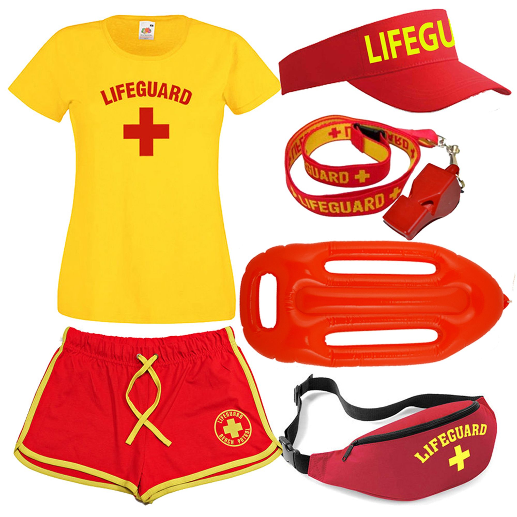 6f15628825a1 LADIES LIFEGUARD + T-SHIRT + SHORTS SETS .